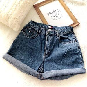 Tommy Hilfiger vintage high waisted shorts
